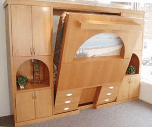 Huge selection of Wallbeds and Closets built here in the